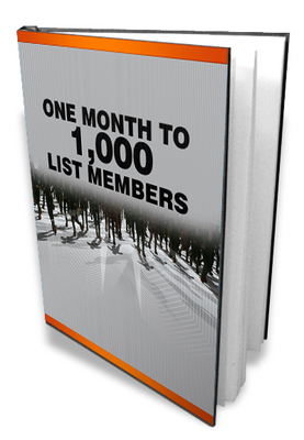 Product picture One Month To A 1000 List Members - Create email mailing list